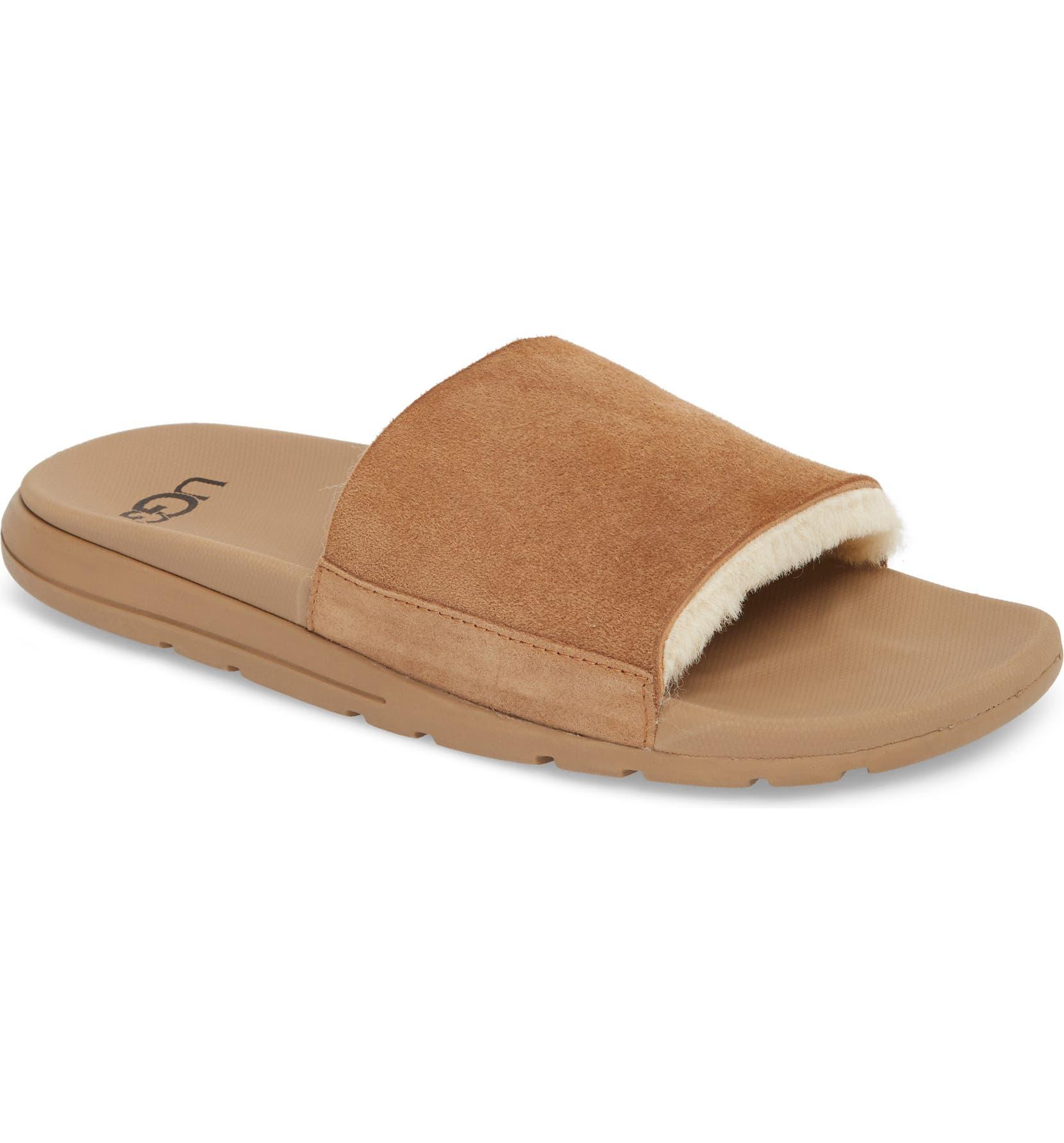 58614f13a1f Xavier TF Genuine Shearling Slide Sandal