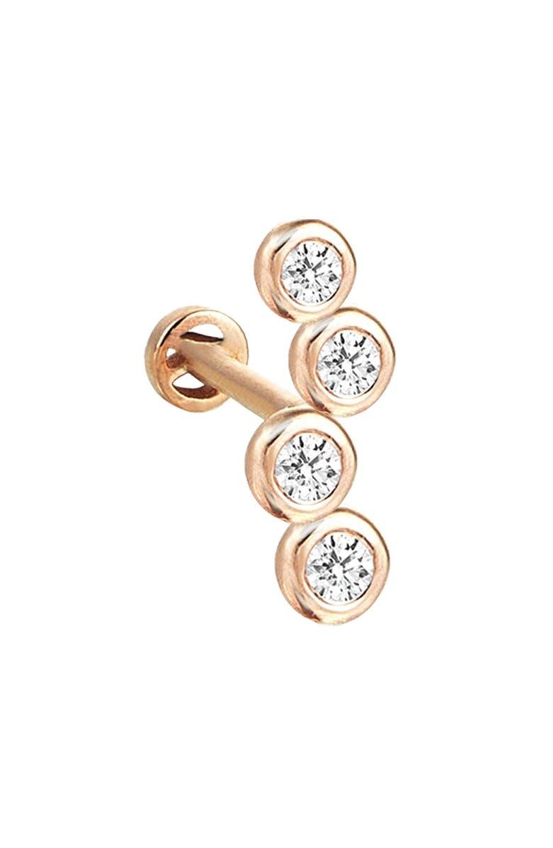 KISMET BY MILKA Single Diamond Stud Earring, Main, color, 712