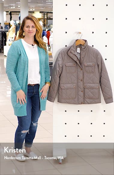 Fleece Lined Quilted Utility Jacket, sales video thumbnail
