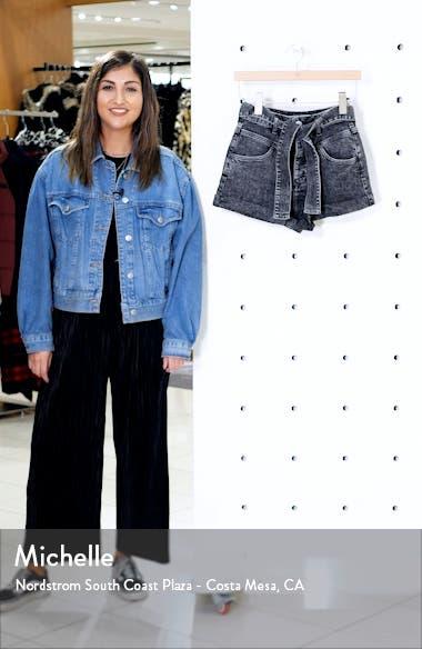Illou Tie Waist Denim Shorts, sales video thumbnail