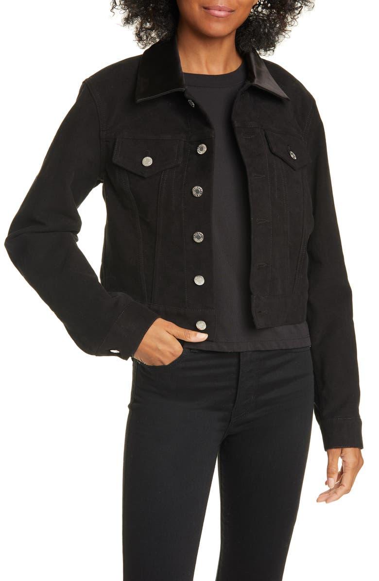 HELMUT LANG Denim Trucker Jacket, Main, color, 001
