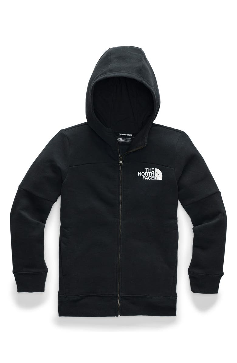 THE NORTH FACE Metro Logo Cotton Blend Hoodie, Main, color, 001
