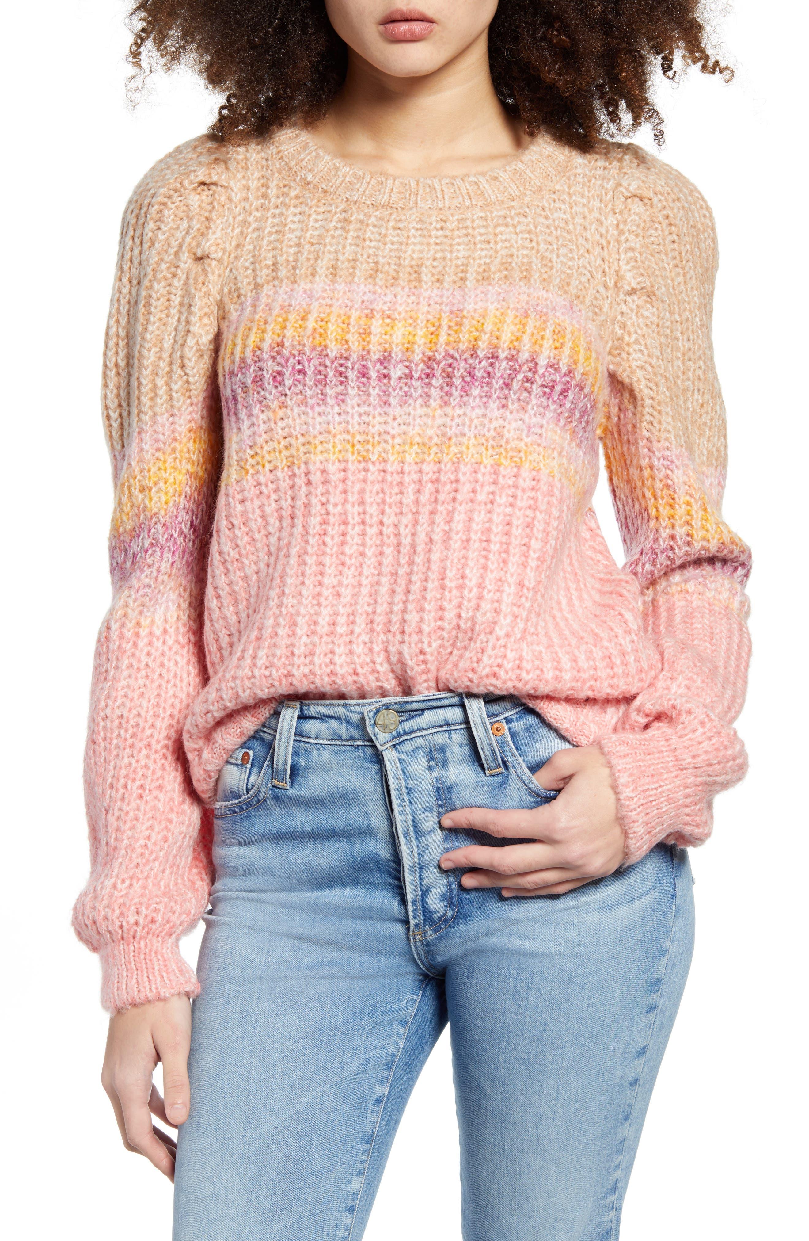 Image of VERO MODA Pinar Stripe Crewneck Sweater