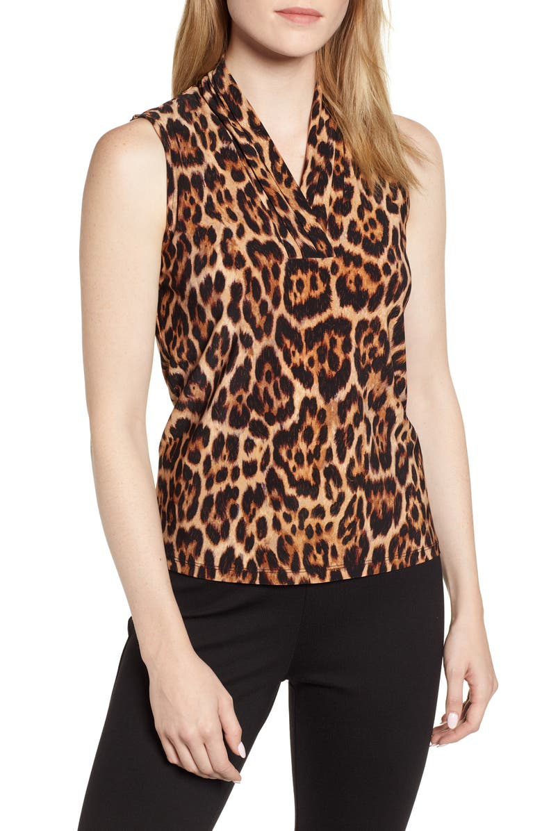 Anne Klein Animal Print Sleeveless Top