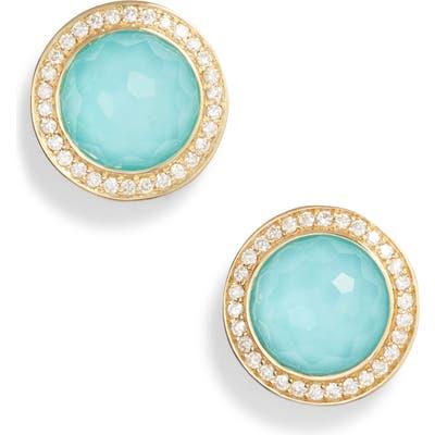 Ippolita Lollipop Stone & Diamond Stud Earrings