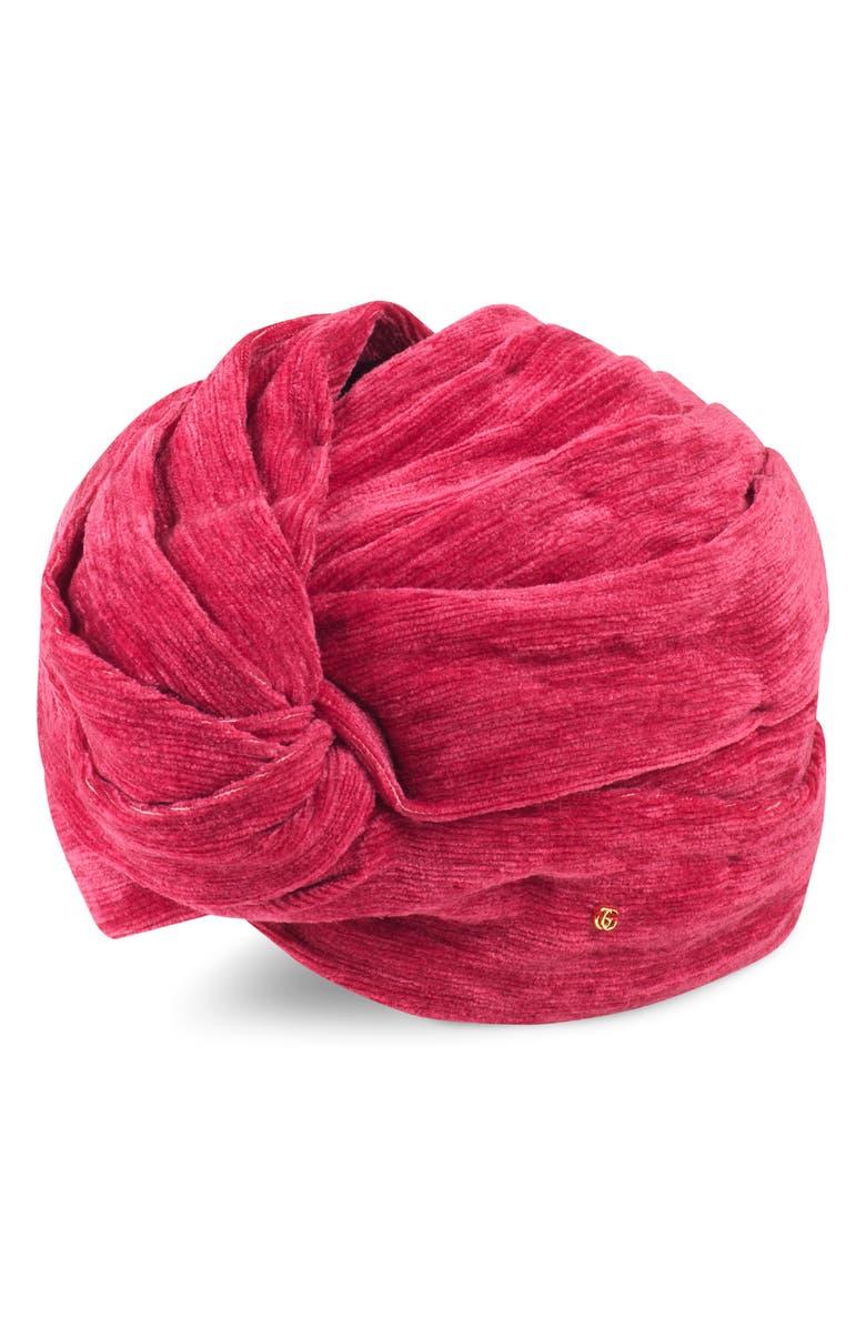 GUCCI Knotted Headband, Main, color, FUXIA