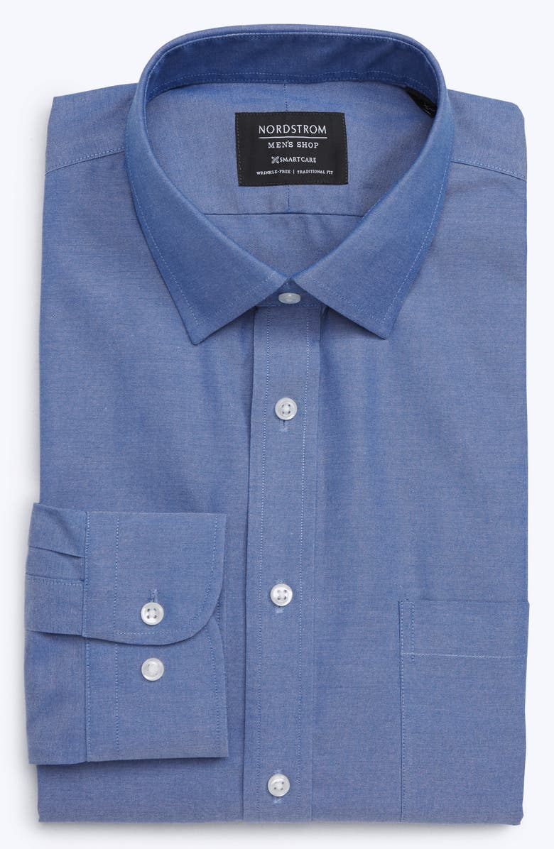 NORDSTROM MEN'S SHOP Smartcare<sup>™</sup> Traditional Fit Dress Shirt, Main, color, FRENCH BLUE