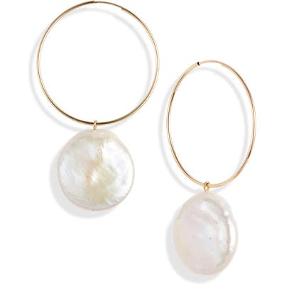 Loren Stewart Nakita Coin Pearl Hoop Earrings