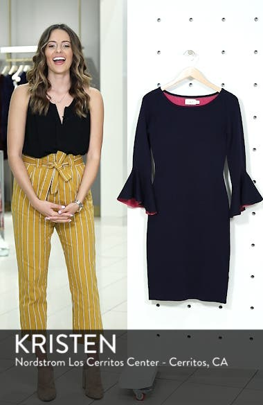 Bell Sleeve Midi Sweater Dress, sales video thumbnail