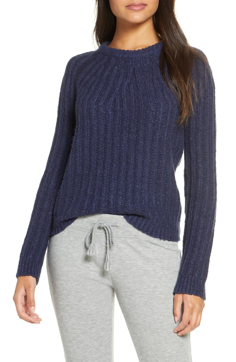 UGG<SUP>®</SUP> Ambrose Sweater, Main, color, NAVY HEATHER