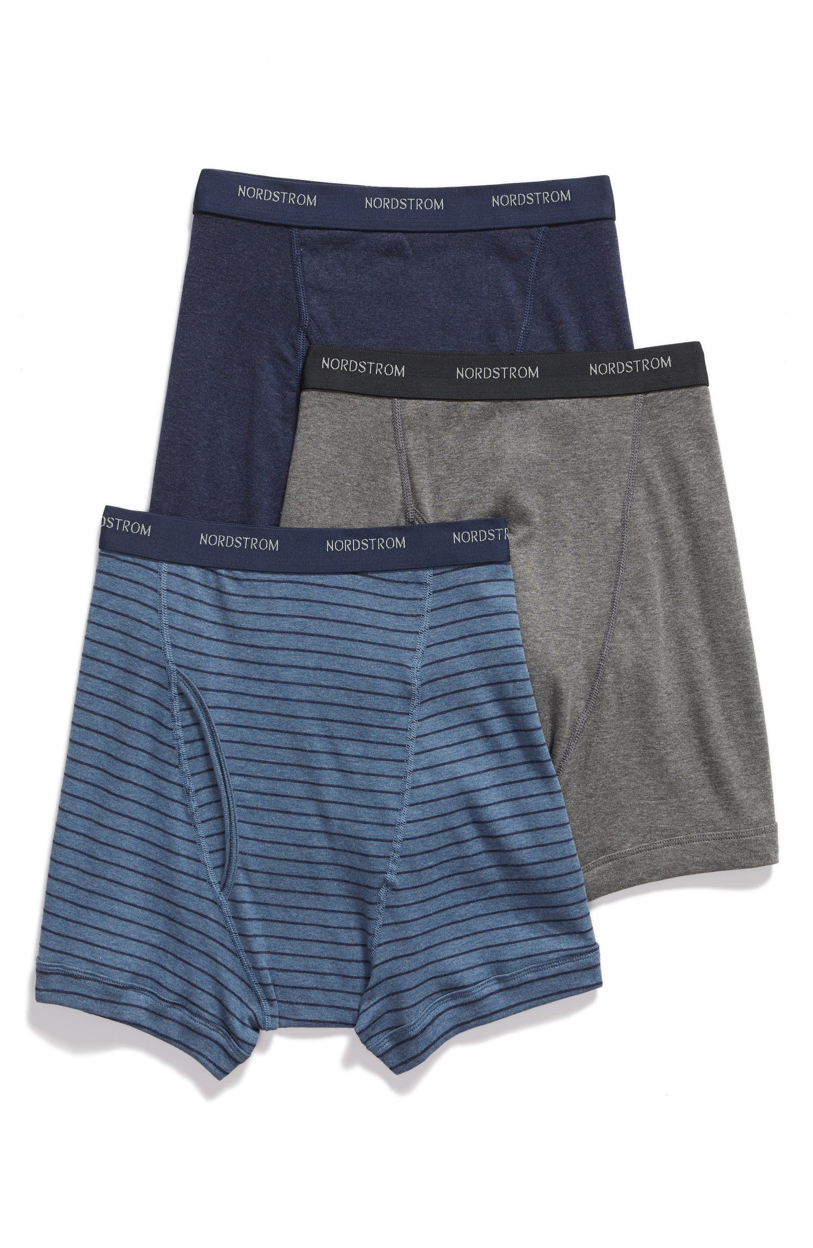 8a27f5b13d Nordstrom Mens Shop 3-Pack Supima® Cotton Boxer Briefs
