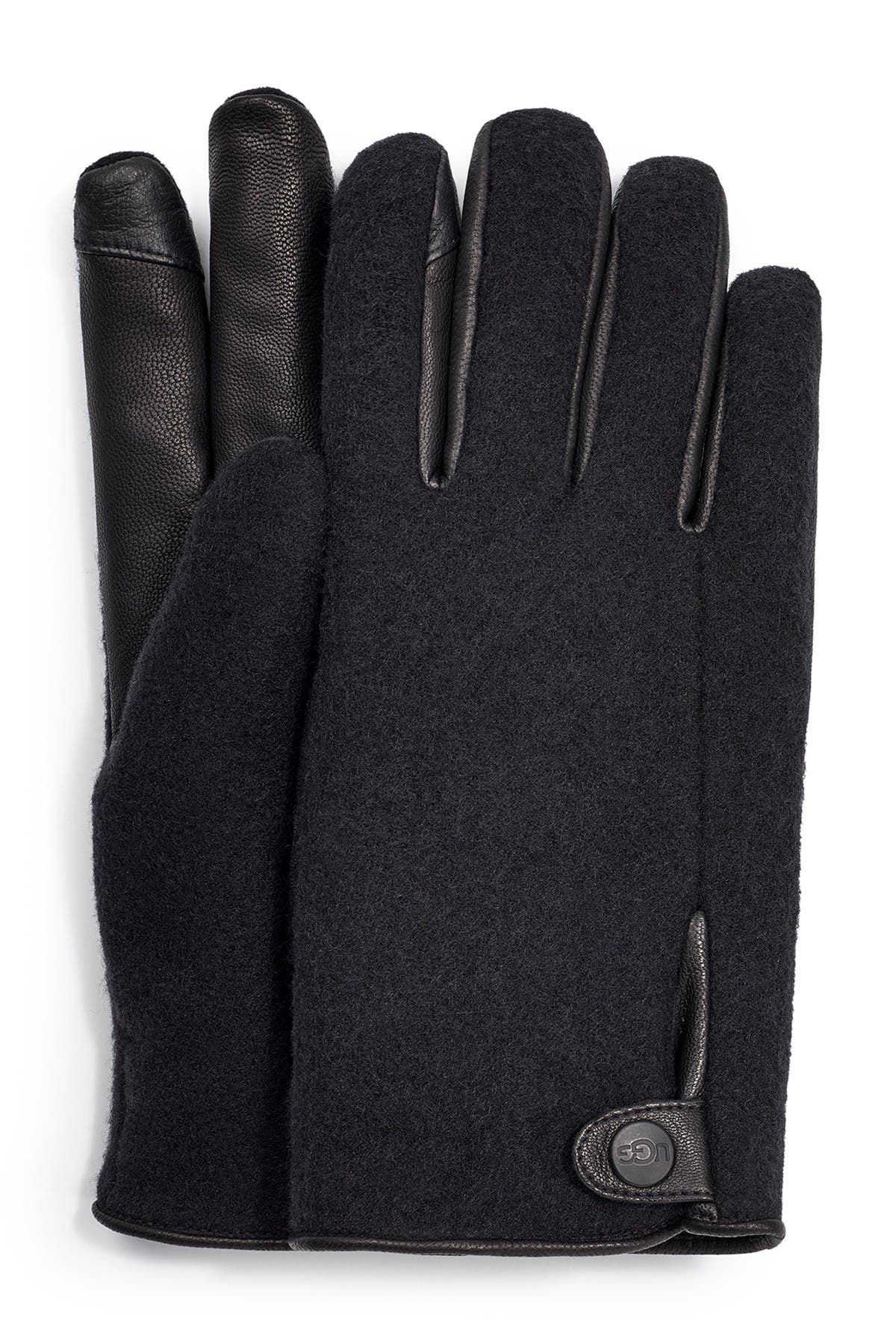 Image of UGG Snap Tab Fabric Tech Gloves