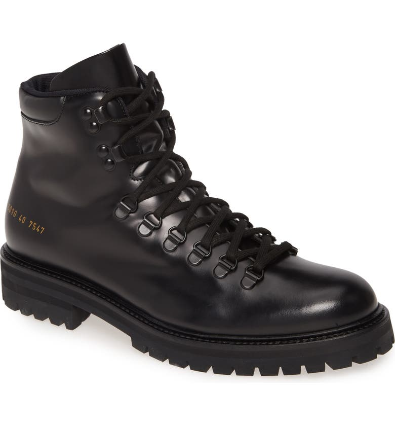 COMMON PROJECTS Hiking Boot, Main, color, BLACK