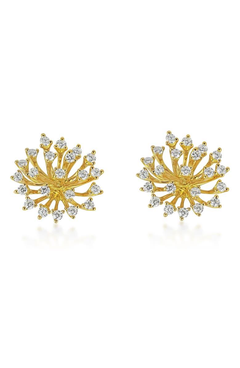 HUEB Luminus Large Diamond Earrings, Main, color, YELLOW GOLD