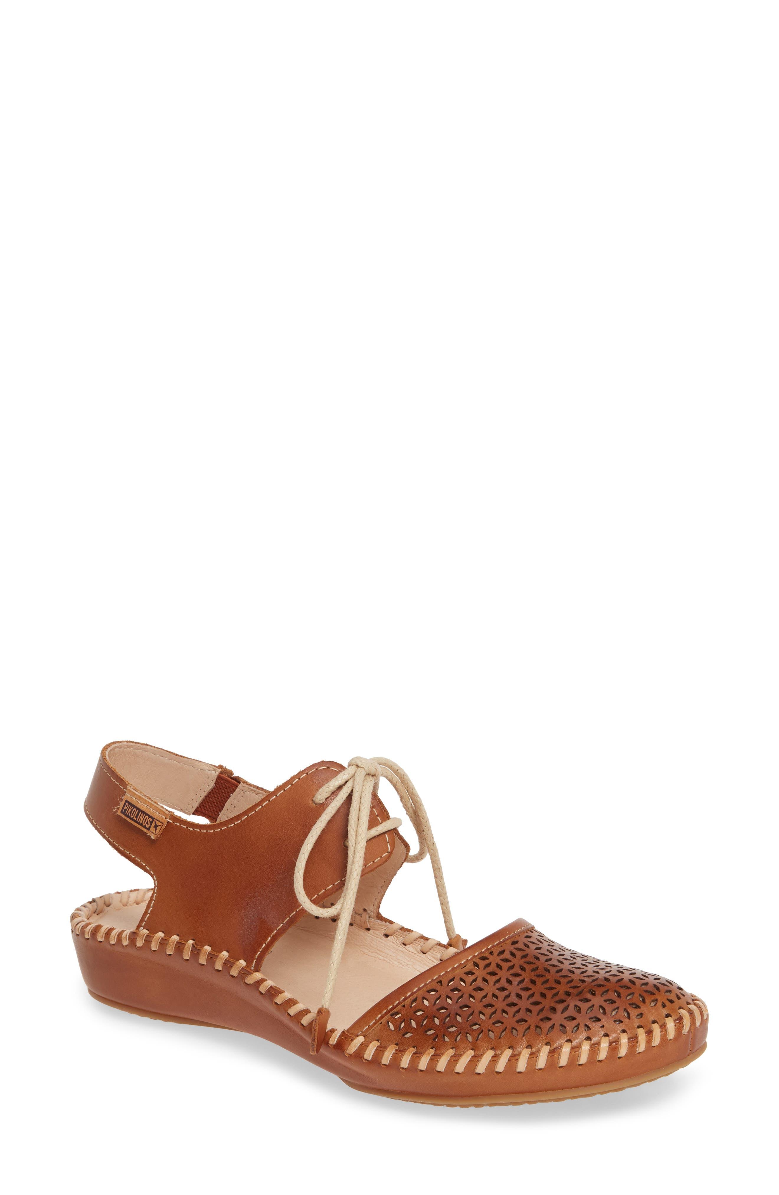 Pikolinos Puerto Vallarta Lace-Up Sandal, Brown