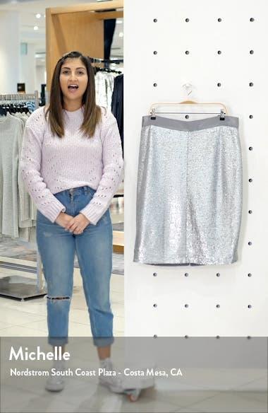Sequin Pencil Skirt, sales video thumbnail