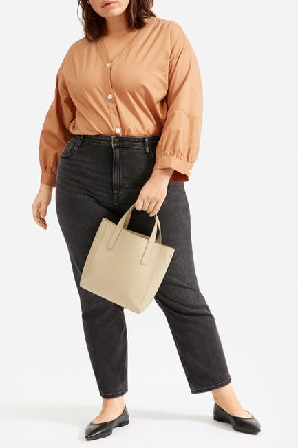 Image of EVERLANE The Silky Cotton Silky Lantern Top