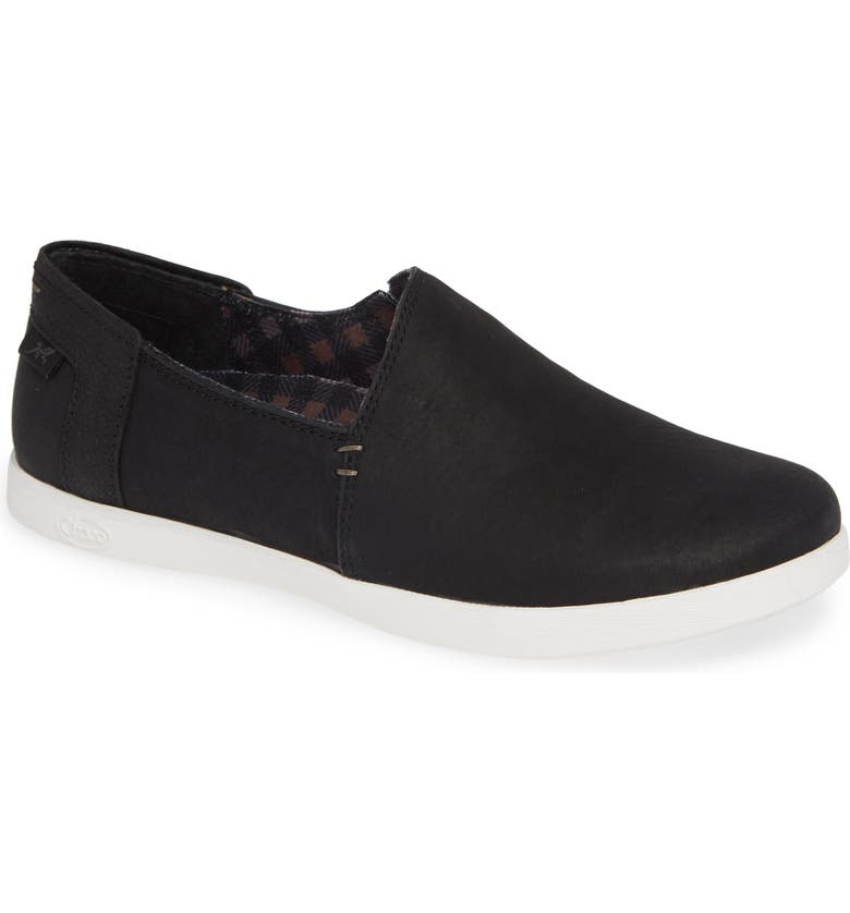 CHACO Ionia Slip-On Sneaker, Main, color, BLACK LEATHER