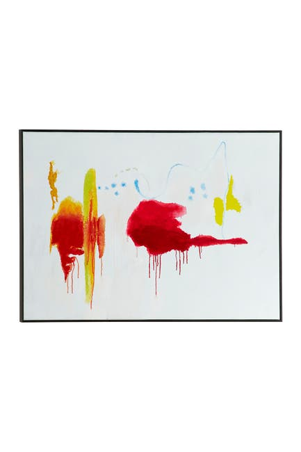 """Image of VENUS WILLIAMS COLLECTION Rectangular Primary Colors Abstract Canvas Wall Art in Black Wood Frame - 48"""" X 32"""""""