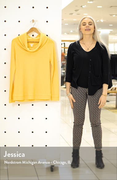 Cowl Neck Waffle Knit Top, sales video thumbnail