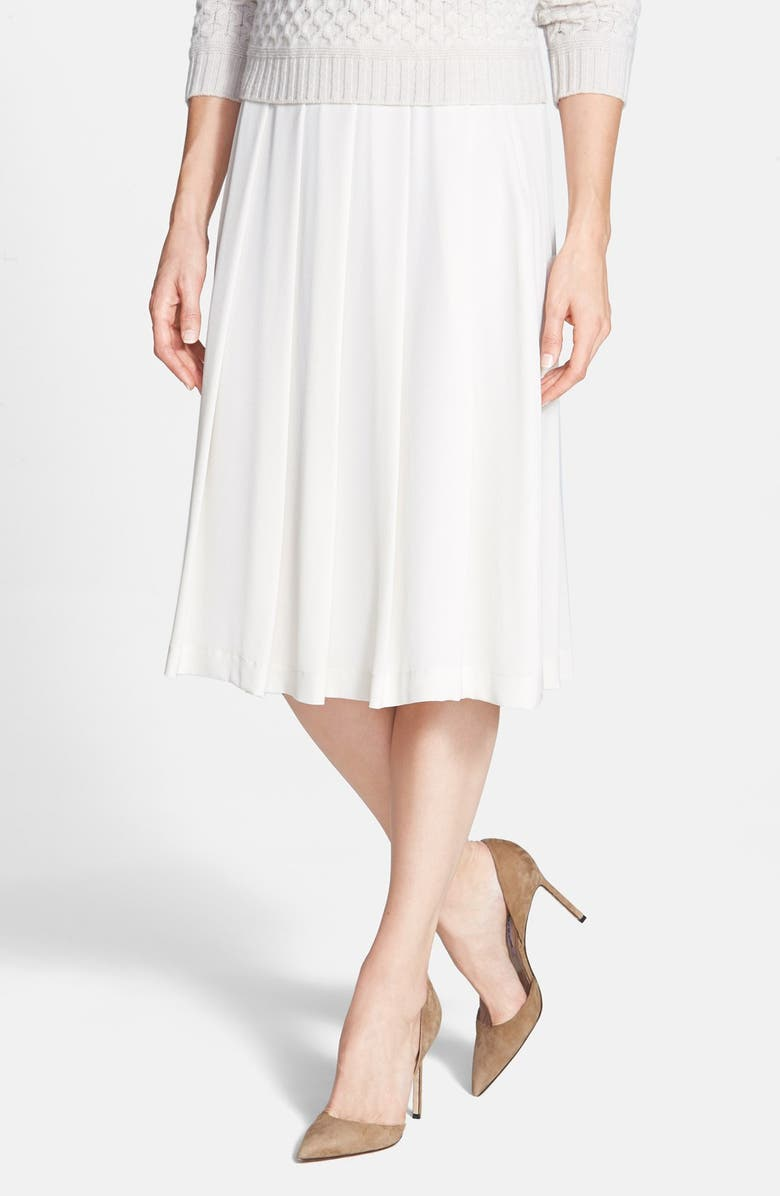 WEEKEND MAX MARA 'Bamby' Pleat Silk Skirt, Main, color, 100