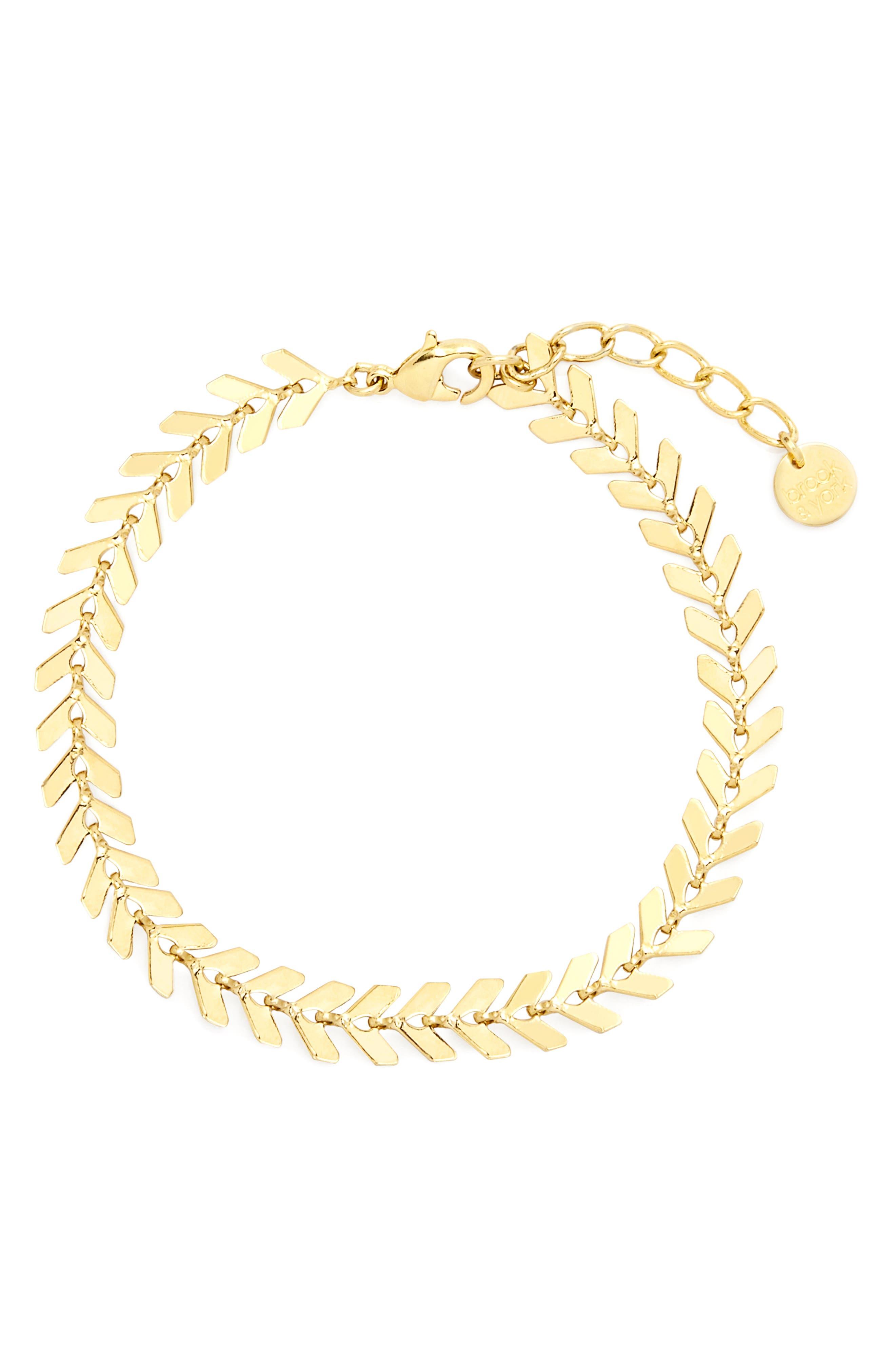 Brynn Chevron Chain Bracelet