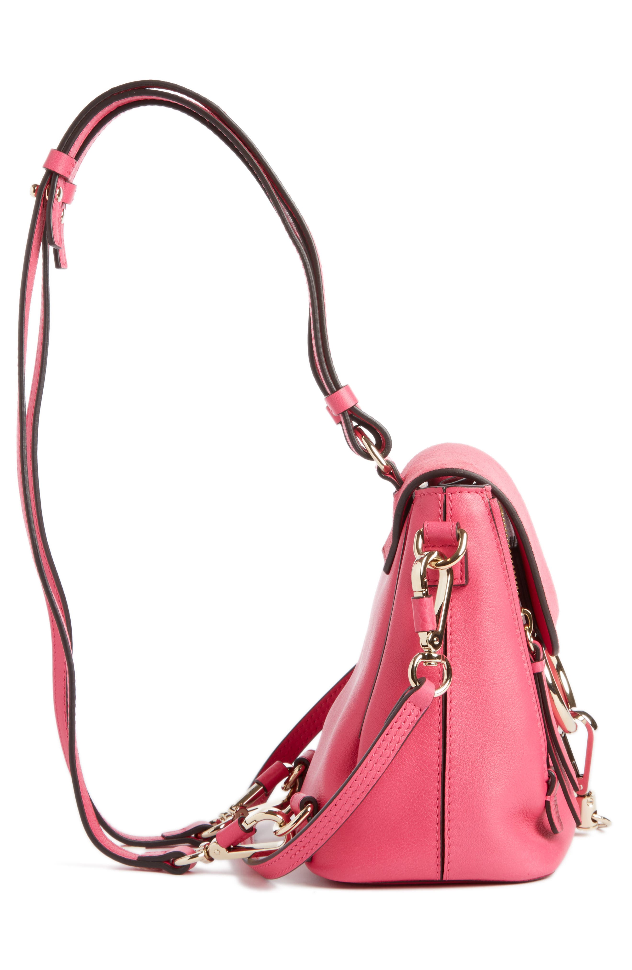 ,                             Mini Faye Leather & Suede Backpack,                             Alternate thumbnail 32, color,                             651