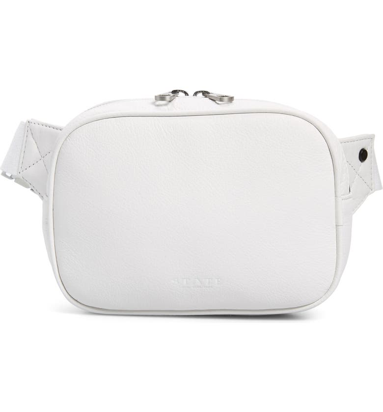 STATE BAGS Homecrest Crosby Belt Bag, Main, color, WHITE