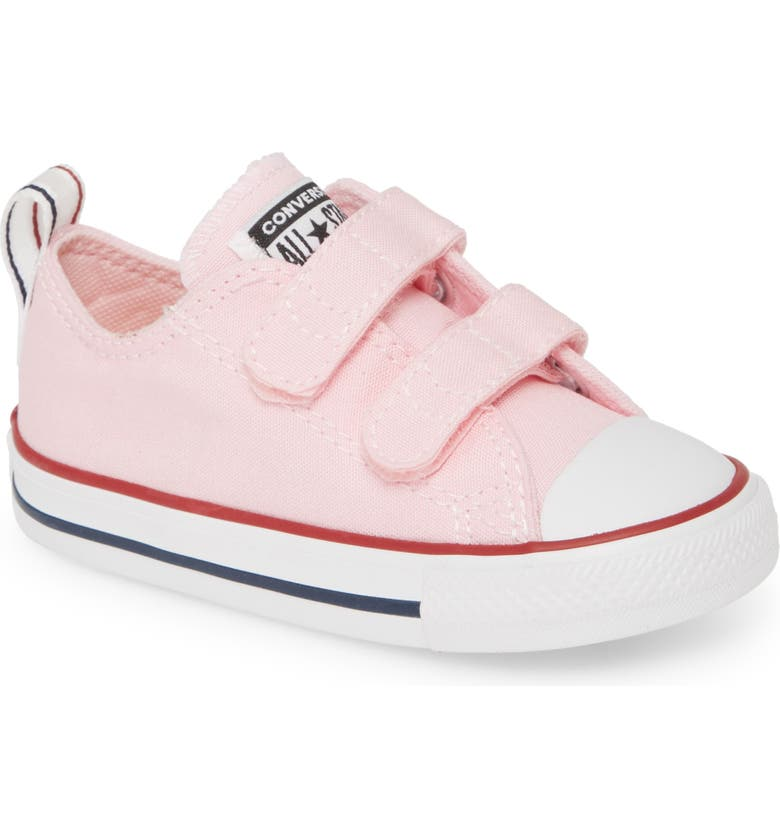 CONVERSE Chuck Taylor<sup>®</sup> All Star<sup>®</sup> 2V Double Strap Low Top Sneaker, Main, color, CHERRY BLOSSOM/ BLACK/ WHITE