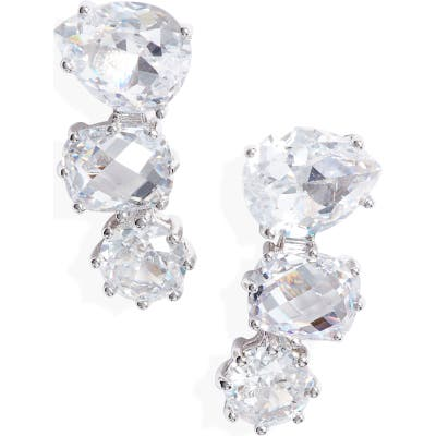 Nordstrom Triple Cubic Zirconia Climber Earrings
