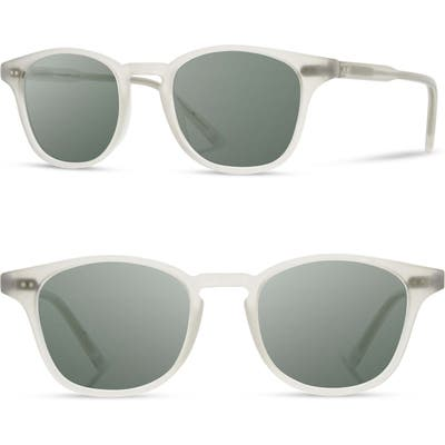 Shwood Kennedy 50Mm Polarized Sunglasses - Bone