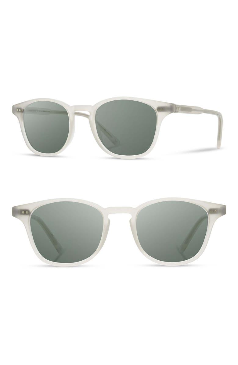 SHWOOD Kennedy 50mm Polarized Sunglasses, Main, color, BONE