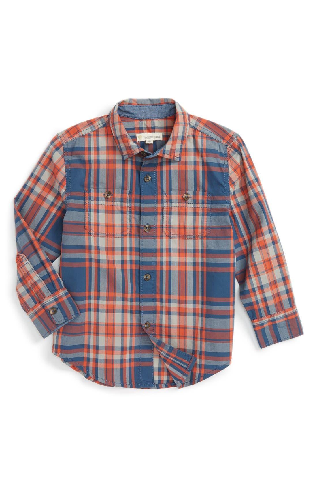 ,                             'Photo' Buffalo Plaid Woven Shirt,                             Main thumbnail 24, color,                             412