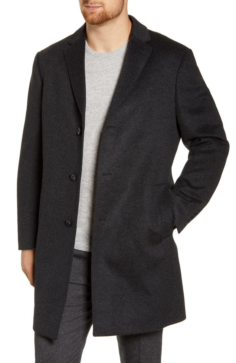 JOHN W. NORDSTROM<SUP>®</SUP> Mason Wool & Cashmere Overcoat, Main, color, GREY PHANTOM MARL