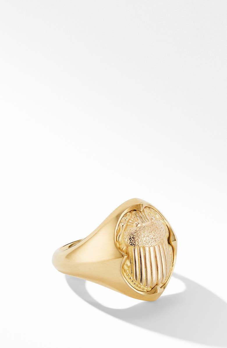 DAVID YURMAN Petrvs<sup>®</sup> Small Scarab Pinky Ring in 18K Yellow Gold, Main, color, YELLOW GOLD