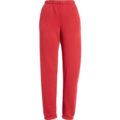 Entireworld French Terry Sweatpants, Red (Nordstrom Exclusive)