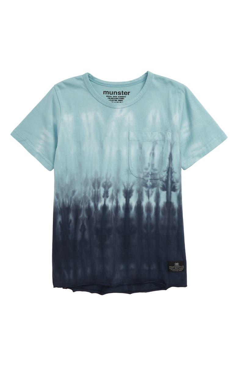 MUNSTERKIDS Tie Dye Jersey T-Shirt, Main, color, BLUE