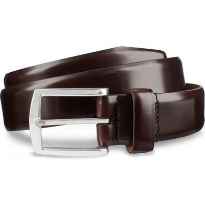 Allen Edmonds Midland Ave. Leather Belt, Mahogany