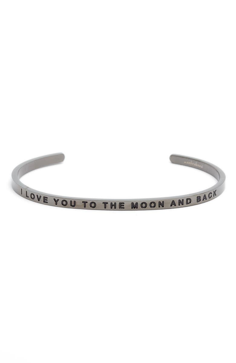MANTRABAND<SUP>®</SUP> I Love You to the Moon and Back Cuff, Main, color, 024