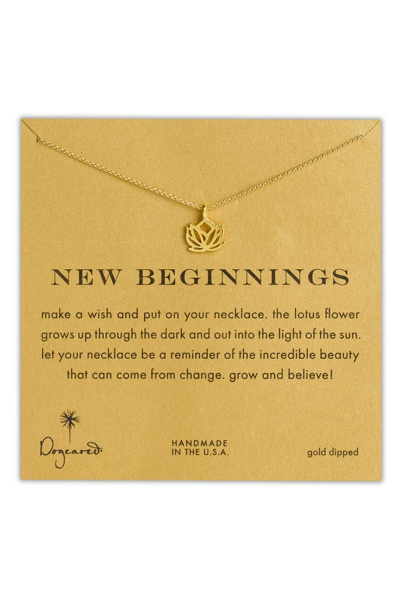 DOGEARED 'Reminder - New Beginnings' Pendant Necklace, Main, color, 710