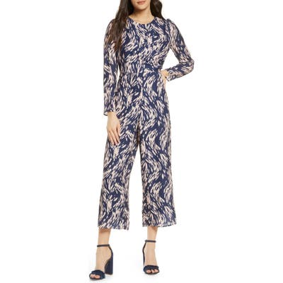 Ali & Jay High Brow Long Sleeve Jumpsuit, Blue