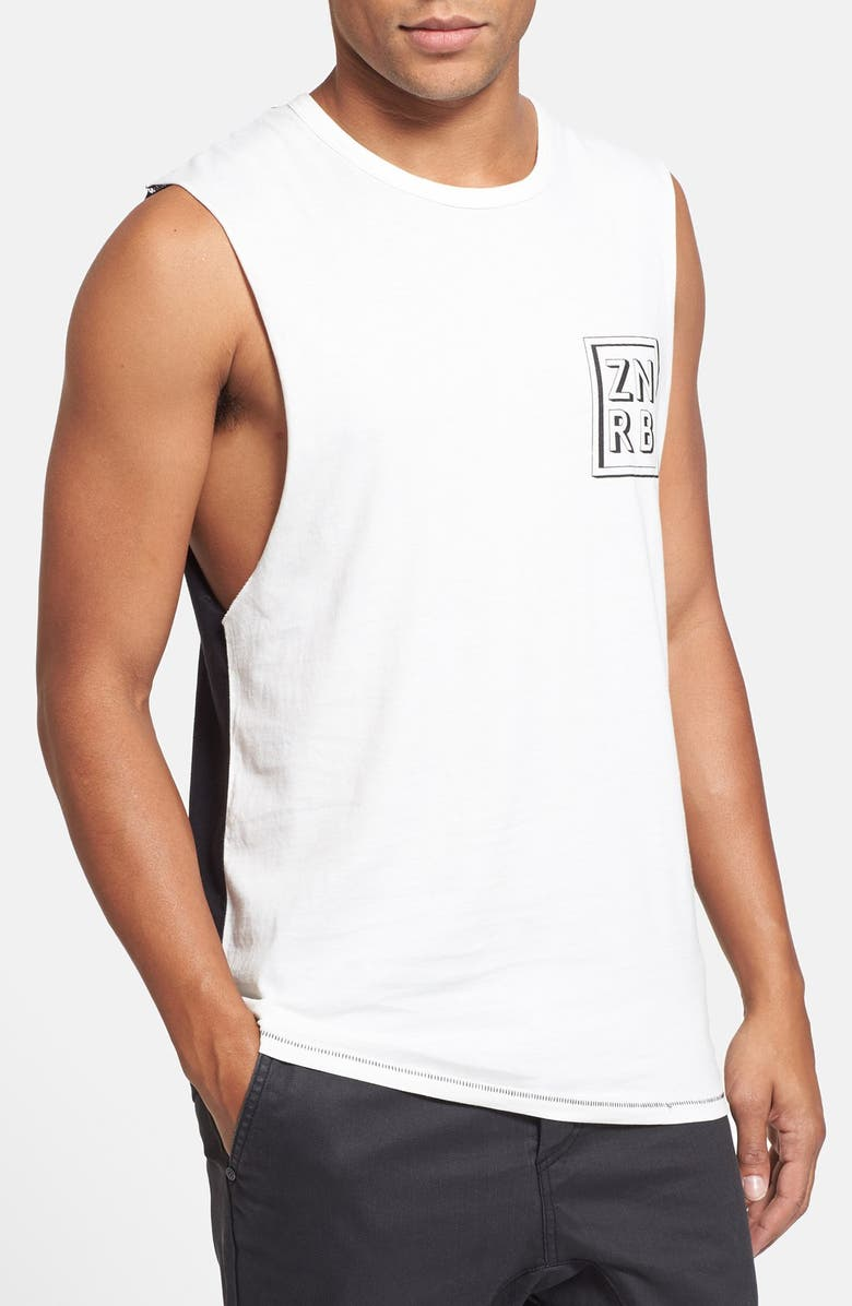 ZANEROBE 'Cube' Graphic Muscle T-Shirt, Main, color, 100