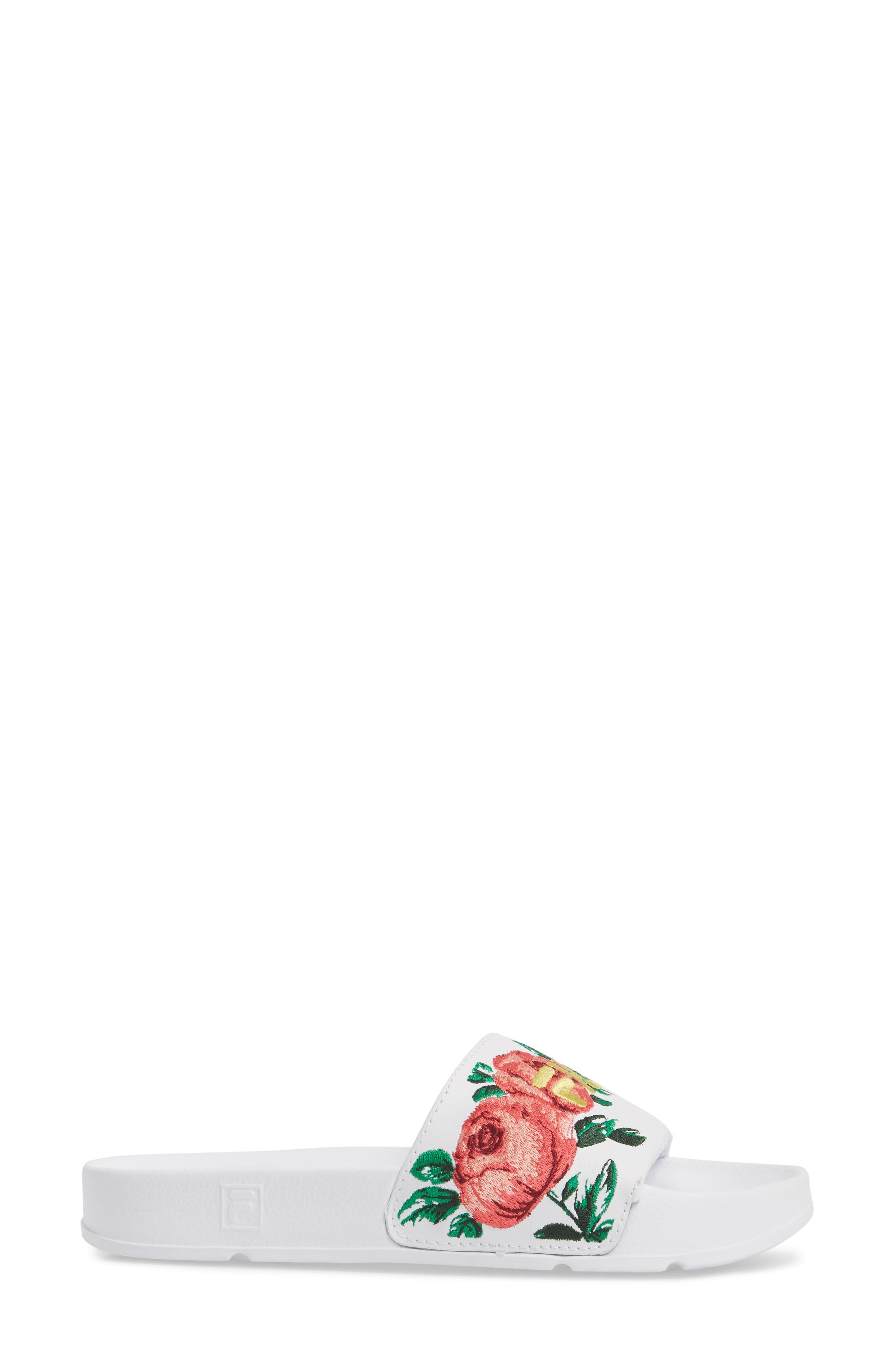 ,                             Embroidered Slide Sandal,                             Alternate thumbnail 3, color,                             145