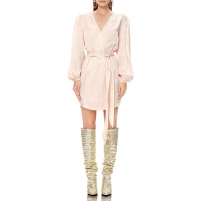 Afrm Milos Long Sleeve Wrap Minidress