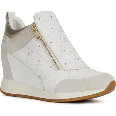 Geox Nydame Wedge Sneaker - White
