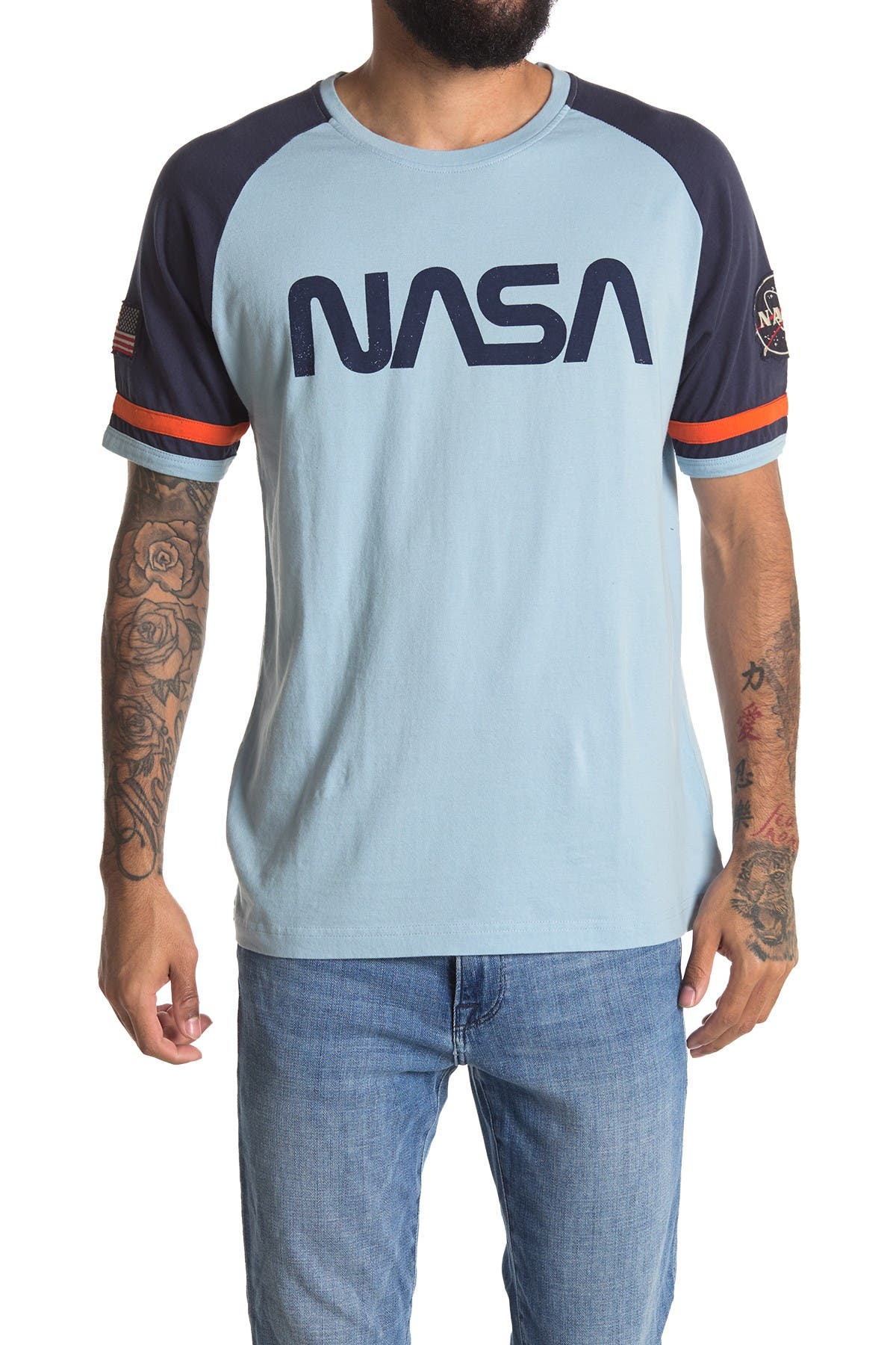 Image of American Needle Nasa Raglan Sleeve Crew Neck T-Shirt