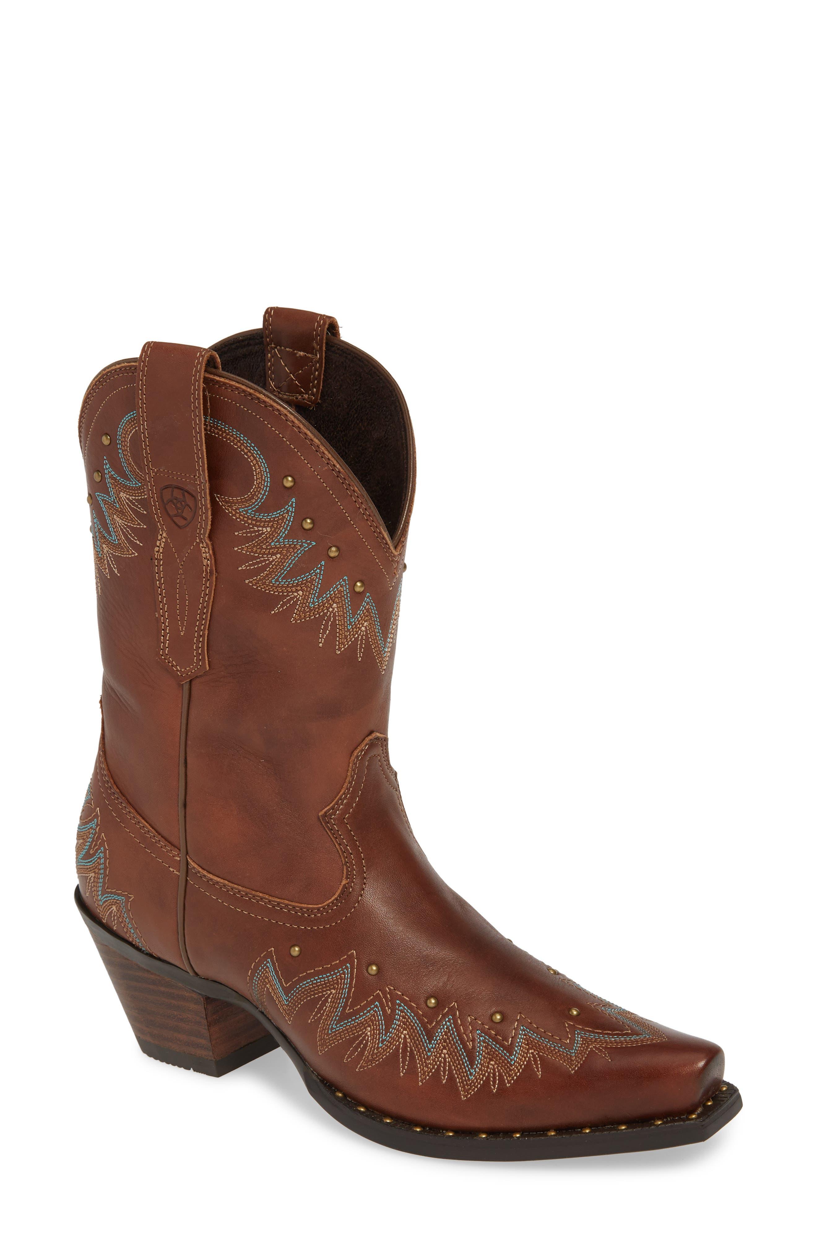 Ariat Potrero Western Boot- Brown