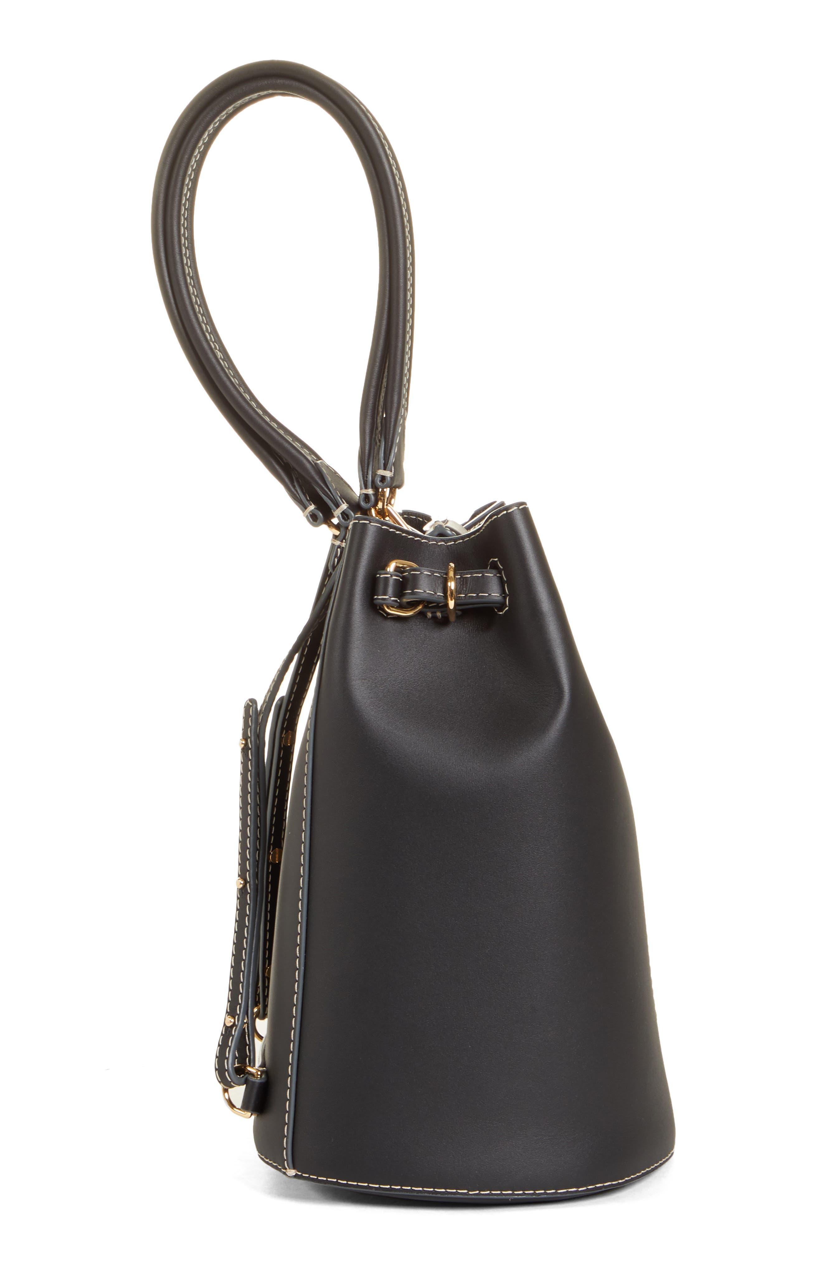 ,                             Jamie Leather Backpack,                             Alternate thumbnail 6, color,                             BLACK