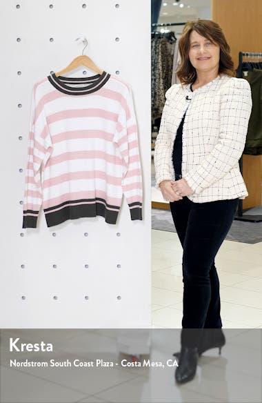 Stripe Contrast Cuff Cotton Sweater, sales video thumbnail