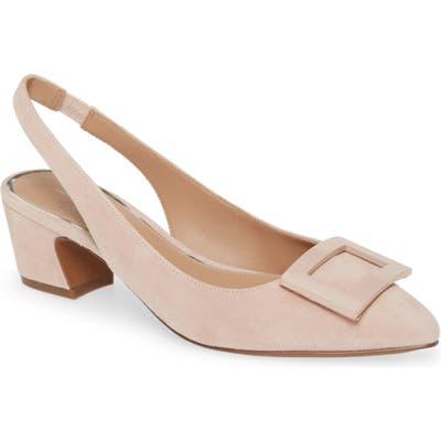 Linea Paolo Baize Buckle Pointed Toe Slingback Pump- Pink